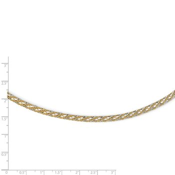 14K Two-tone Woven Mesh Necklace