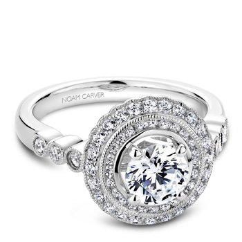 Noam Carver Floral Engagement Ring B069-01A