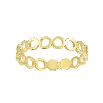 14K Gold Open Circle Stackable Ring