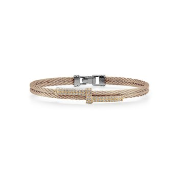 Carnation Cable Opulence Bracelet with 18kt Yellow Gold & Diamonds