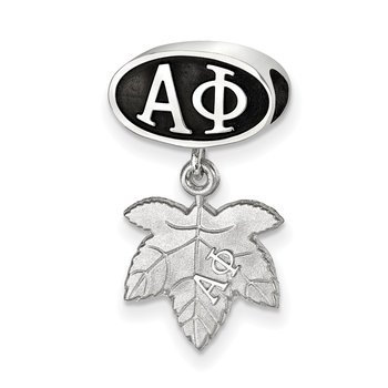 Sterling Silver Alpha Phi Greek Life Bead