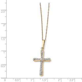 14k Diamond Fascination 18in Cross Necklace
