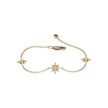 North Star Trio Bracelet in 14 KT Yellow Gold Vermeil on Sterling Silver