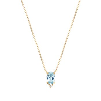 Vivian | Topaz And Diamond Necklace