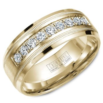 CrownRing Men's Wedding Band WB-9083Y