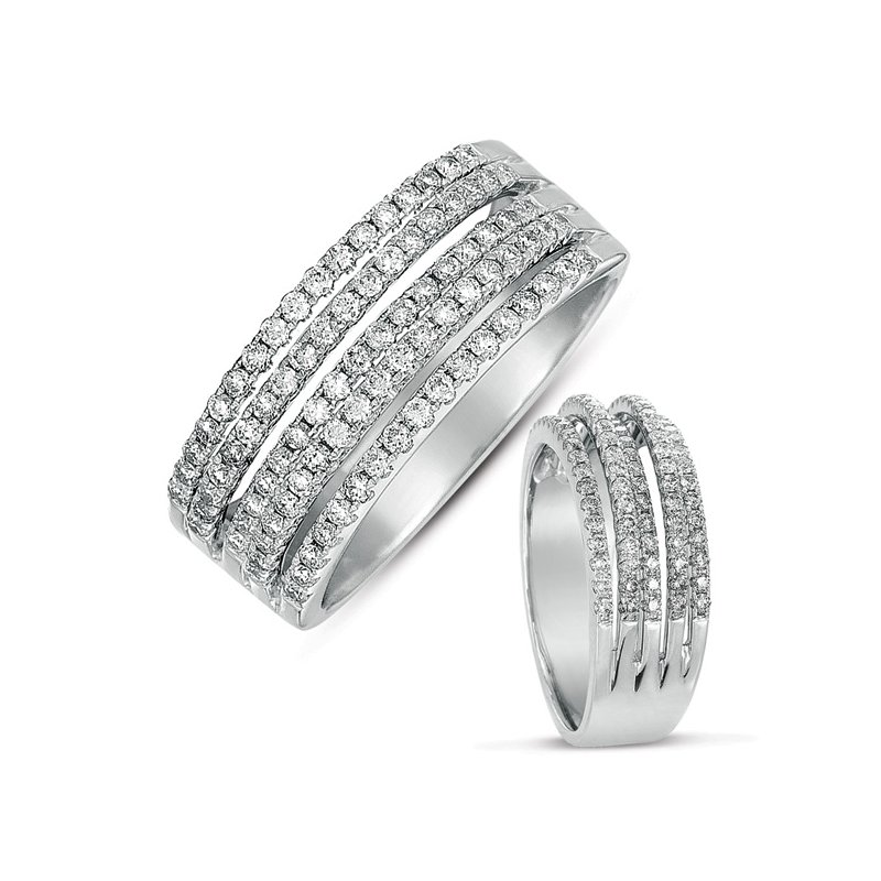 S. Kashi  & Sons White Gold Micro Pave Band