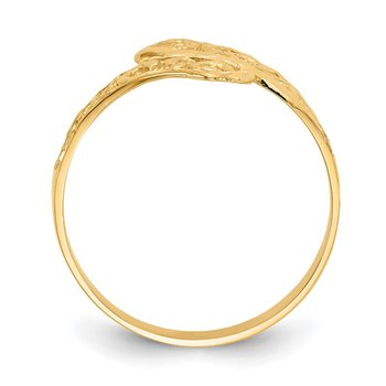 14K By-pass Lace Diamond-cut Ring