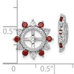 Quality Gold Sterling Silver Rhodium Garnet Earring Jacket