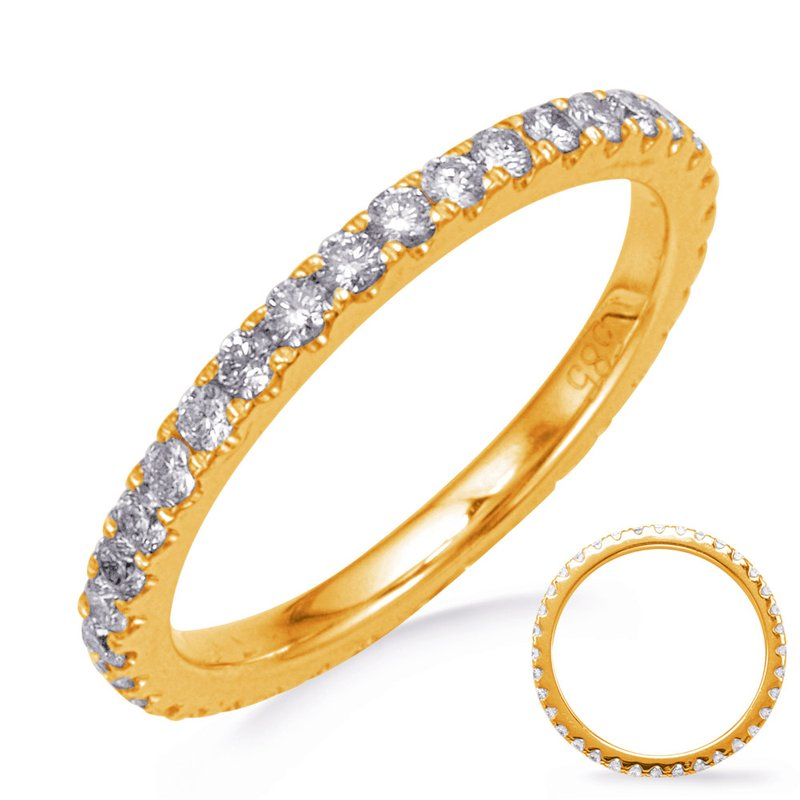 S. Kashi & Sons Bridal Yellow Gold Eternity Diamond Band