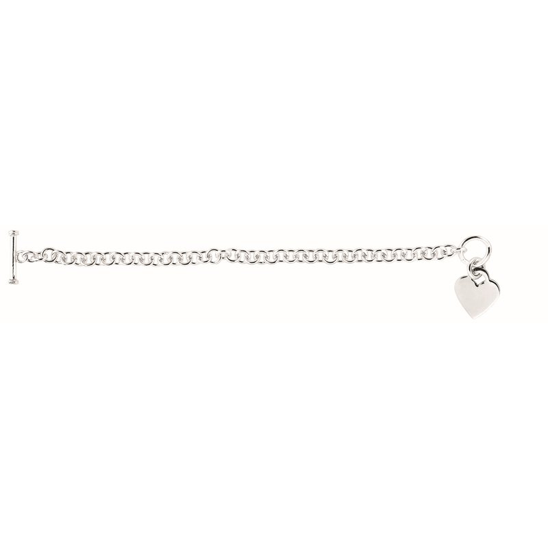 Royal Chain Silver Small Heart Toggle Chain
