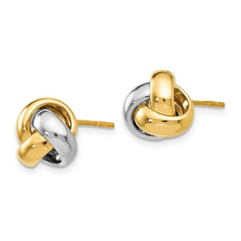 Leslie's 14K Two-tone Polished Love Knot Earrings