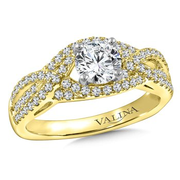 Diamond Engagement Ring Mounting in 14K Yellow Gold (.38 ct. tw.)