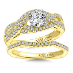Valina Diamond Engagement Ring Mounting in 14K Yellow Gold (.38 ct. tw.)
