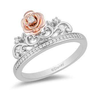 Sterling Silver & 10KP 1/10CTW Belle Rose Ring