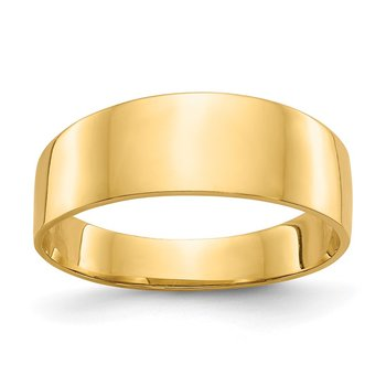 14K 3-6mm Flat-top Tapered Cigar Band Ring