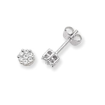 Diamond Round Studs Illusion Set