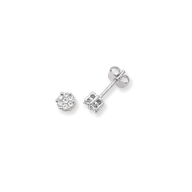 Treasure Diamond Round Studs Illusion Set
