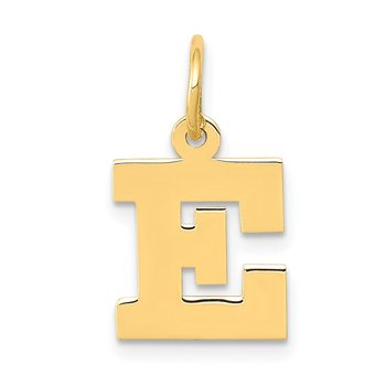 14k Small Block Letter E Initial Charm
