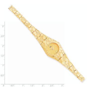 10k Champagne 22mm Dial Nugget Watch