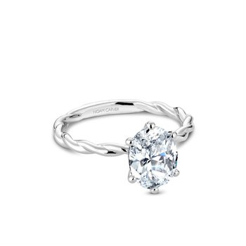 Oval Shaped Solitaire Engagement Ring