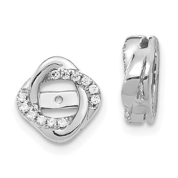 14k White Gold Diamond Jacket Earrings