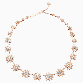 Penélope Cruz Moonsun Necklace, Limited Edition, White, Rose-gold tone plated