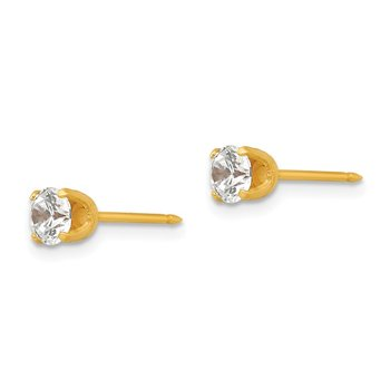 Inverness 14k 5mm CZ Post Earrings