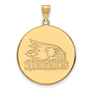 Gold-Plated Sterling Silver SE Missouri State NCAA Pendant