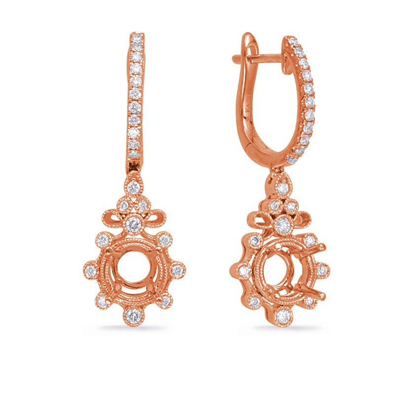 S. Kashi  & Sons Rose Gold Diamond Earring 1/4ct