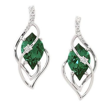 Emerald Earrings-CE3496WEM