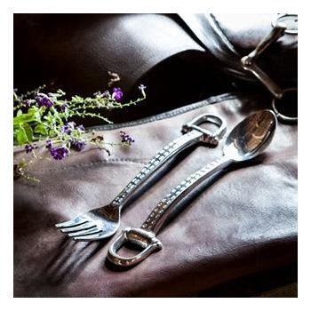 Equestrian salad servers