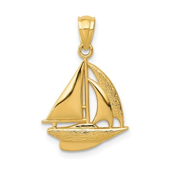 14k Sailboat Pendant
