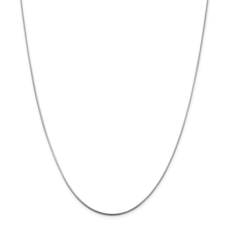 Fine Jewelry by JBD Sterling Silver 1.25mm Diamond-cut Snake Chain