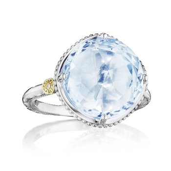 Bold Simple Gem Ring featuring Sky Blue Topaz