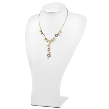 Leslie's 14k Tri- Color Fancy Adjustable Necklace