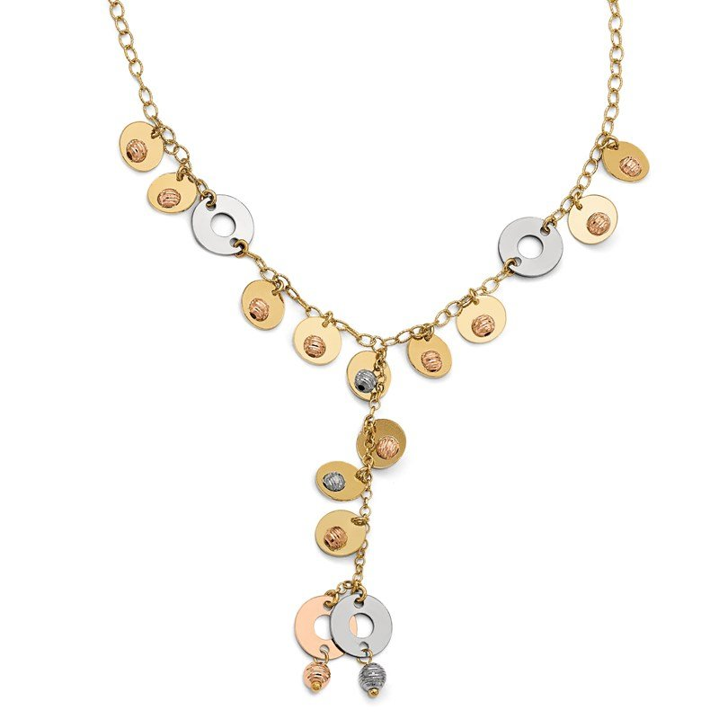 Leslie's Leslie's 14k Tri- Color Fancy Adjustable Necklace