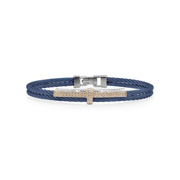 Blueberry Cable Petite Opulence Bracelet with 18kt Rose Gold & Diamonds