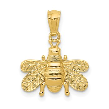 14k Polished Bee Pendant