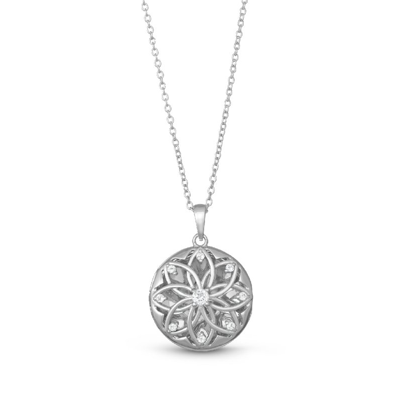 With You Lockets Helen Locket Necklace Silver