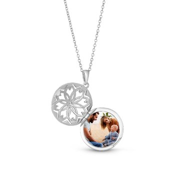 Helen Locket Necklace Silver
