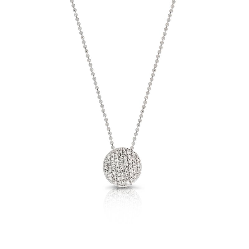 Phillips House White gold diamond mini Infinity necklace