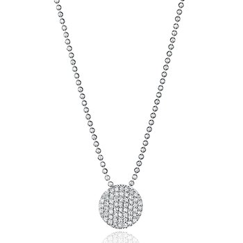 White gold diamond mini Infinity necklace