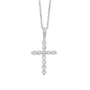 Diamond Classic Cross Pendant in 14k White Gold (1 ctw)