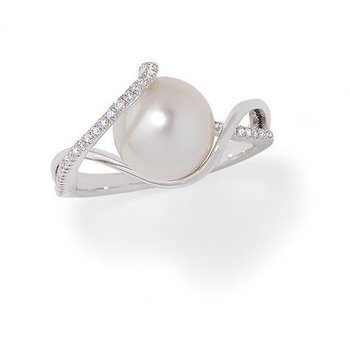 White Pearl Ring-CRP9006WWH
