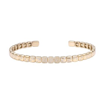 14K Flexible Diamond Cuff 0.34C