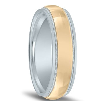 Colors Two Tone Wedding Band NT01501 by Novell
