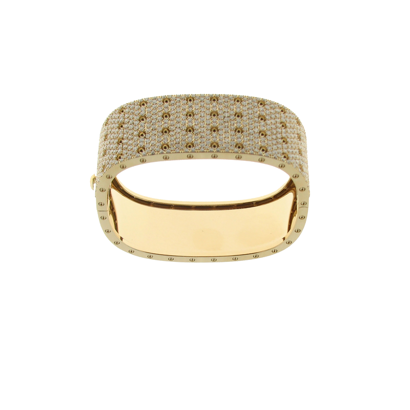 Roberto Coin  #25516 Of 4 Row Pave Diamond Bangle