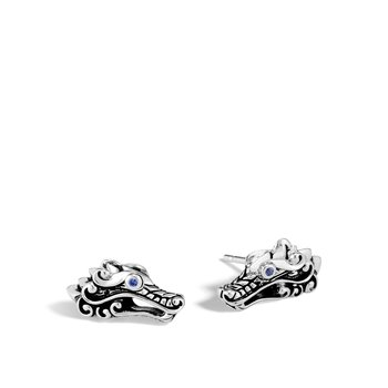 Legends Naga 15x7.5MM Stud Earring in Silver