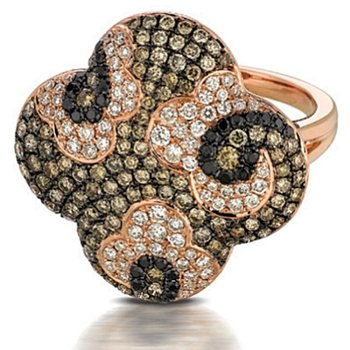 Mocha Mosaic Fashion Ring