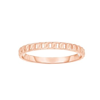 14K Gold Mini Curb Stackable Ring